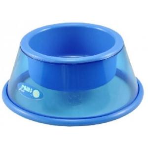 Crazy paws drink- en voerbak blauw - L
