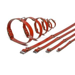 Lederen honden halsband rood