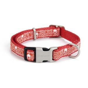 Nylon honden halsband bones rood
