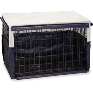 Hoes voor hondenbench benco beige/blauw 109 x 69 x 75 cm