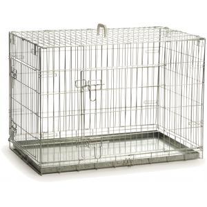 Hondenbench 2 deurs inklapbaar verzinkt 89 X 60 X 66 CM