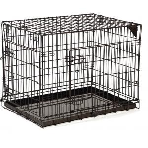 Dagaanbieding - Hondenbench premium 2 deurs Bruin 78 x 55 x 61 cm dagelijkse koopjes