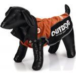 Honden regenjas Outdog oranje/zwart XS 26 cm
