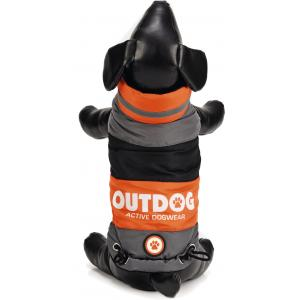 Hondenjas Outdog oranje/grijs S 26 cm
