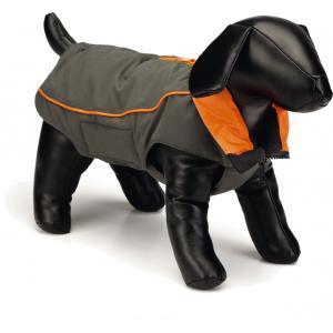 Nano hondenjas Vail Grijs/oranje 45 cm - Nano hondenjas Vail Grijs/oranje 45 cmMet de Nano Vail hondenjas kan jouw hond niet ongezien over straat! Dit hondenjasje met stijlvol kraagje, ziet er fantastisch uit en heeft ook nog eens de perfecte pasvorm. Vanwege de Nano technologie behandeling...