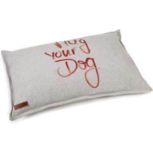 Hondenkussen Hug Your Dog grijs 100 x 70 cm