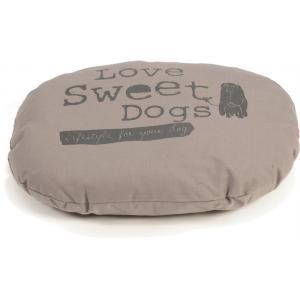 Hondenkussen ovaal Sweet Dogs mokka 56 x 42 cm