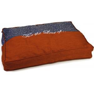 Hondenkussen Tyda blauw/oranje 70 x 40 x 10 cm