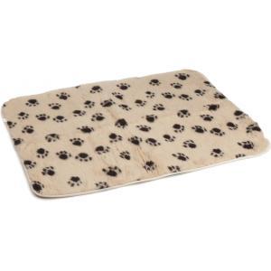 Vetbed afgebiesd voor hond beige 100 x 75 cm
