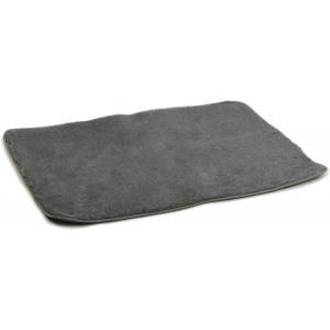 Vetbed afgebiesd voor hond grijs 100 x 75 cm