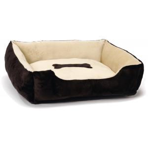 Plastic hondenmand siesta bruin-beige