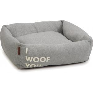 Hondenmand Woof You grijs 65 x 60 x 20 cm