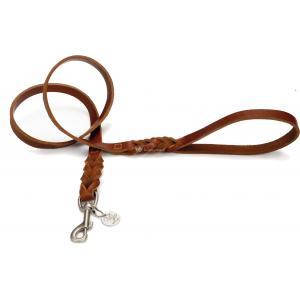 Hondenriem van leer 130cm x 22mm bruin