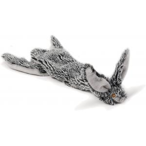 Flatino pluche hondenspeeltje konijn zwart 30 cm
