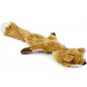 Flatino pluche hondenspeeltje vos bruin 30 cm