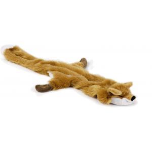 Flatino pluche hondenspeeltje vos bruin 52 cm
