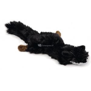 Flatino pluche hondenspeeltje vos zwart 30 cm