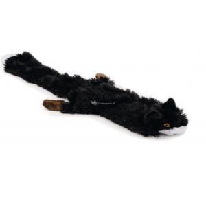 Flatino pluche hondenspeeltje vos zwart 52 cm
