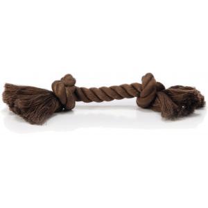 Flossytouw hondenspeeltje 2 knopen bruin 125 gram