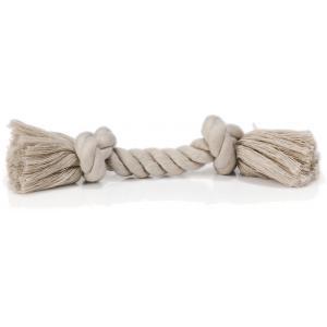 Flossytouw hondenspeeltje 2 knopen grijs 50 gram