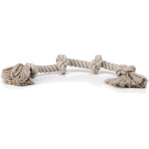 Flossytouw hondenspeeltje 4 knopen grijs 360 gram