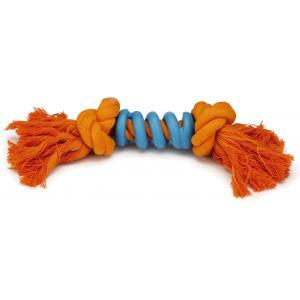 Flossytoy hondenspeeltje Spiralo oranje blauw 32 cm