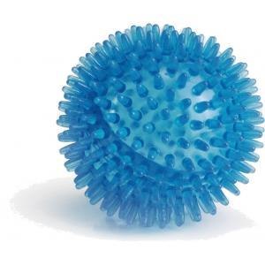 Hondenspeeltje egelbal blauw 8 cm