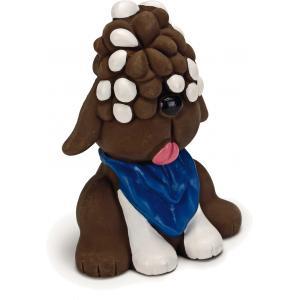 Latex hondenspeeltje Doggel bruin 12 cm