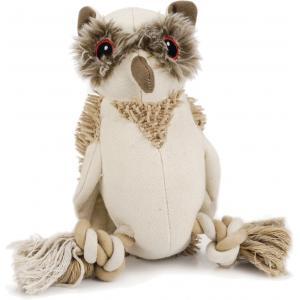 Nuddles textiel hondenpeeltje uil 26 cm