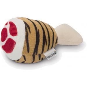 Pluche hondenspeeltje drumstick tijger 12.5 cm
