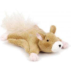 Pluche hondenspeeltje vliegende hond Flatchy 13 cm