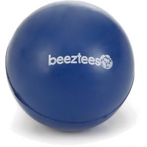 Rubber bal massief hondenspeeltje blauw 4.5 cm