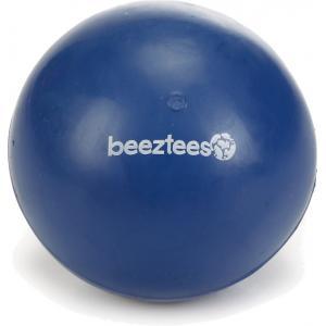 Rubber bal massief hondenspeeltje blauw 7.5 cm