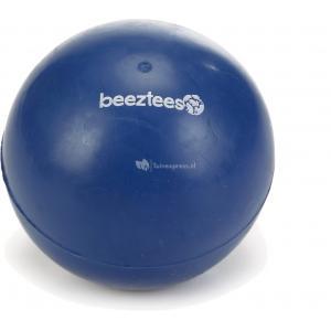 Rubber bal massief hondenspeeltje blauw 9 cm