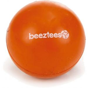 Rubber bal massief hondenspeeltje oranje 4.5 cm