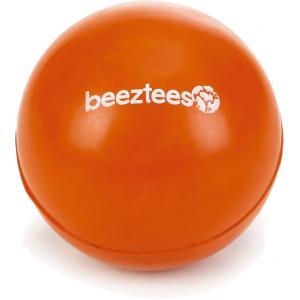 Rubber bal massief hondenspeeltje oranje 6.5 cm