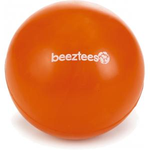 Rubber bal massief hondenspeeltje oranje 7.5 cm