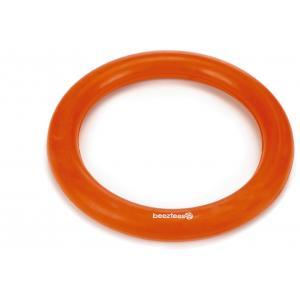Rubber hondenspeeltje ring massief oranje 15 cm