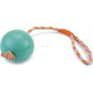 Rubberen bal aan koord hondenspeeltje mint 30 cm