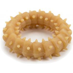 Rubberen ring voor puppy hondenspeeltje naturel 8 cm