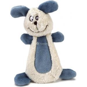 Textiel hondenspeeltje Bonzy wit/blauw 15 cm