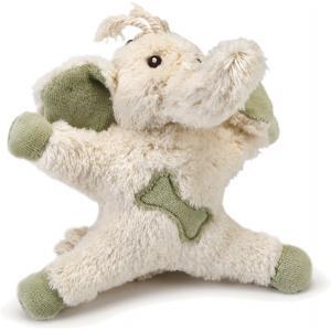 Textiel hondenspeeltje Mamoo wit/groen 14 cm