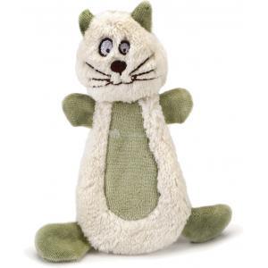 Textiel hondenspeeltje Pippy wit/groen 15 cm