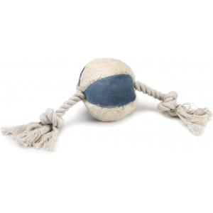 Textiel hondenspeeltje Tropal wit/blauw 9 cm