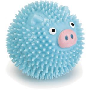 TPR hondenspeeltje Pribbles blauw 6 cm