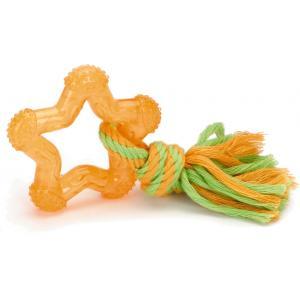 TPR hondenspeeltje Star oranje 8 cm