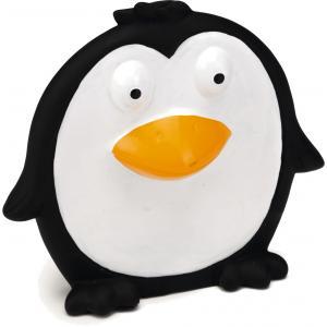 Vinyl hondenspeeltje platte Pingy zwart 14 cm