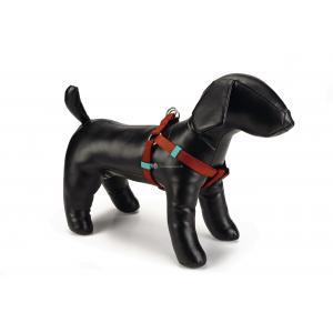 Hondentuig nylon 35-60cm lichtbruin