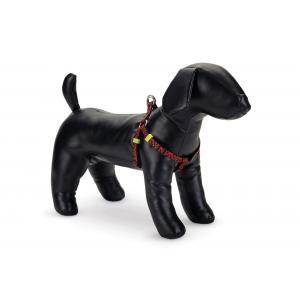 Hondentuig nylon Scribbles 35-60cm zwart