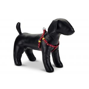 Hondentuig nylon Stars 26-40cm rood